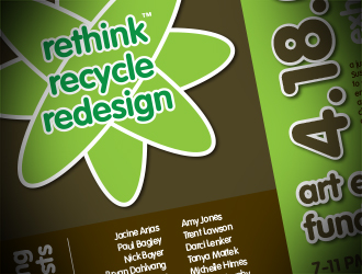 Rethink Recycle Redesign Poster